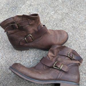 Women's Report 'Jude' Brown Leather Booties 7.5M
